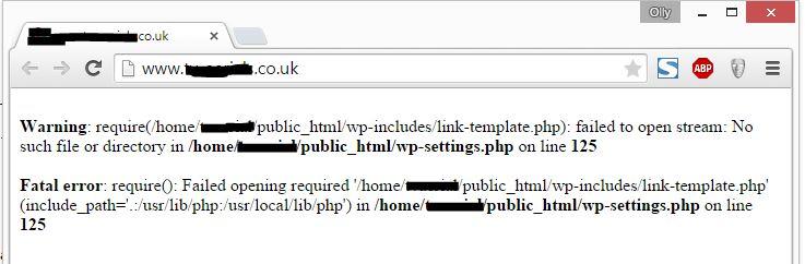 link template suspected error