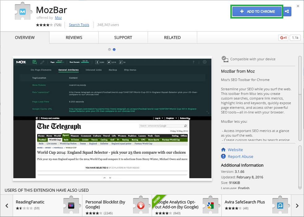MozBar-Add-To-Chrome